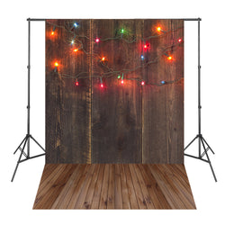 Colorful Lights Brown Wood Board Photography Backdrops Photo Background Light Spot Fond Navidad