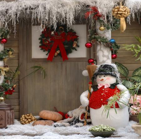 Photography Backdrops Wood Floor Backdrop Porters Snowman Cm15-S-424