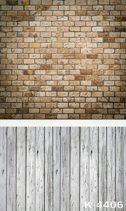Studio Props Photography digital Studio Background cloth photo Background 220Cm * 150Cm white Wood Brick