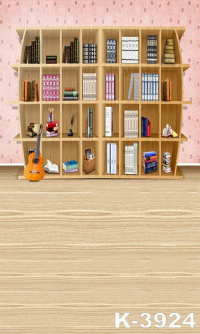 wedding photo backdropfondos fotografiafabricbackdrops 220cm * 150cmWood flooring, wall bookcase
