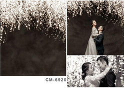 LIFE MAGIC BOX Seamless Washable Black Sparkle wedding photo backdrops Event Party Background
