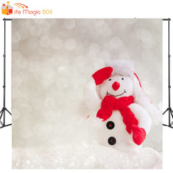 LIFE MAGIC BOX Christmas Photo Background Snowman Fundo Fotografico Kerst Huisjes Met Verlichting