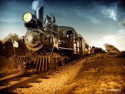 LIFE MAGIC BOX Vinyl Train Wallpaper Train Station Backdrop Train Background for Photo Studios