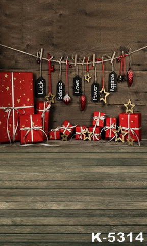 Photography Backdrops Photo Background Photography Props Christmas Christmas Gift Wood K-5314