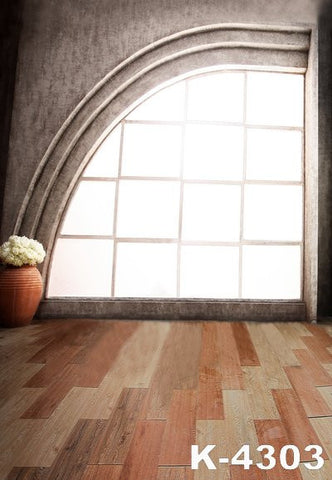 Vintage Photography Backdrops Photographic Background Fabric Backdrops Wood Floor Rectangular Windows Fan