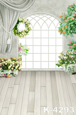 LIFE MAGIC BOX Vinyl Backdrop Window Photography Backdrop Flowers Background Photo Studio