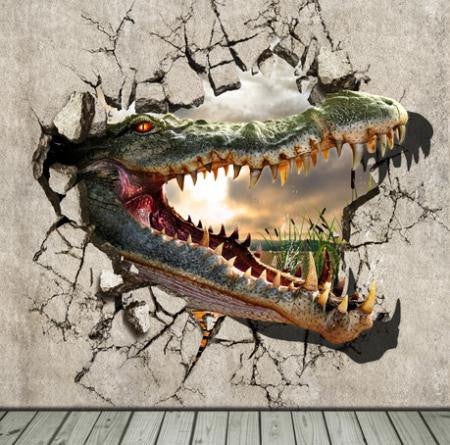 Background Photography Backdrops Wooden Doors Crocodile Cm15-S-155