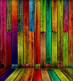 Photography Background Vinyl Multicolor Wooden Wall Background For Studio Cm-5989
