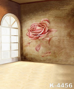 LIFE MAGIC BOX Vinyl Backdrop Window Photography Backdrops Big Flower Background Photo Studio
