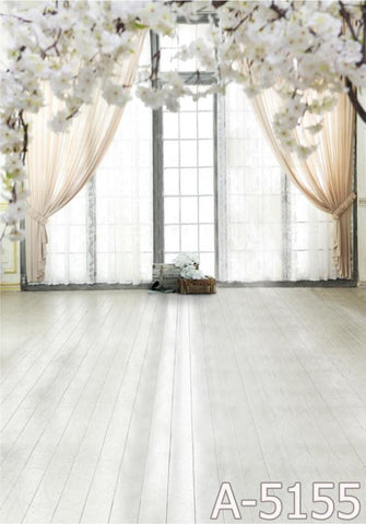 Background Pano De Fundo Fotografia Wood Floors, Windows On Both Sides Of The Curtain  Mh15-1Mh15-Mh15-