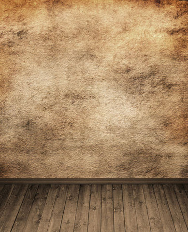 Photography Backdrops Background Wood Floors, Gray And Yellow Wall Cm-5346