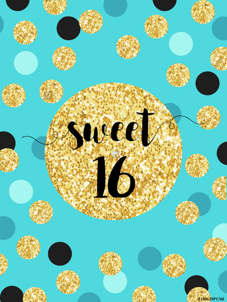 Photography Backdrops Vinyl Sweet 16  Birthday Backgrounds Wallpapers Studio Photo Props