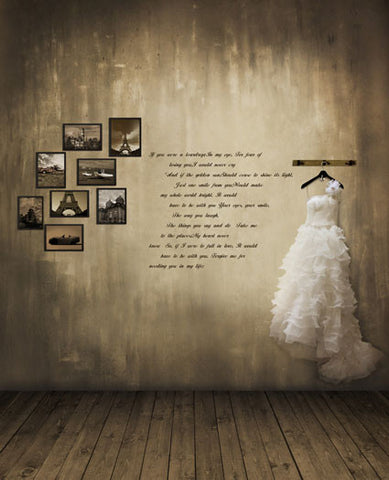 5X7Ft Photography Backdrops Background Wooden Floor, Walls Wedding Photo Frame Cm-5244