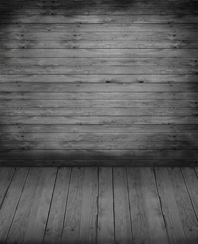 Photography Backdrops Background Wood Floors, Dark Wood-Paneled Walls Cm-5352