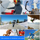 3-Way Grip Foldable Selfie-stick Extension Monopod with Tripod for GoPro HERO5 Xiaoyi Sport Cameras