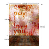 Every Day Love You Brown Wood Photography Studio Backdrop Vinyl Background Fond Photo