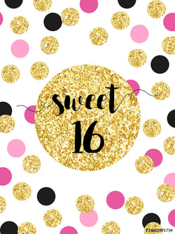 Birthday Backdrop Sweet 16 Photography Backdrops Backgrounds Wallpapers Studio Photo Props