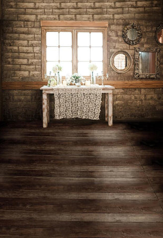 Photo Background Photo Studio Backdrop Cloth Photo Background Wood Floors Windows Nd Wall Mirror Table