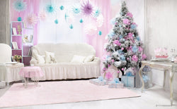 LIFE MAGIC BOX Vinyl Pink Christmas Photo Booth Background Christmas Family Photos Backdrops