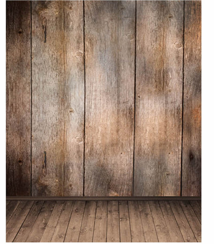 Brown Wide Wood Board Floor Photo Studio Background Fundo Natal Vinyl Backdrops for Photography