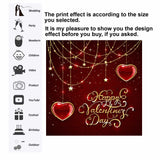 Backdrop Vinyl Valentin's Day Heart Background Wedding Photobooth Photography Props  Studio Photo Birthday Party Wallpapers