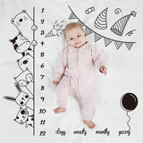 Baby Photo Background Cloth 100x100cm Full Moon 100 Days Photography Props Creative Month Newborn Milestone Blanket Photoshoot