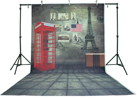 Life Magic Box Vinyl Go To Paris Backdrop Design Portable Backdrop  Collapsible Background