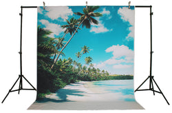 Life Magic Box Vinyl Cloud Photo Backdrop Coconut Tree Sea Backdrops Backgrounds Water Background