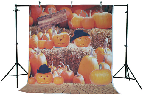Life Magic Box Vinyl Halloween Photo Background Pumpkin Event Party Backdrops Cute Background