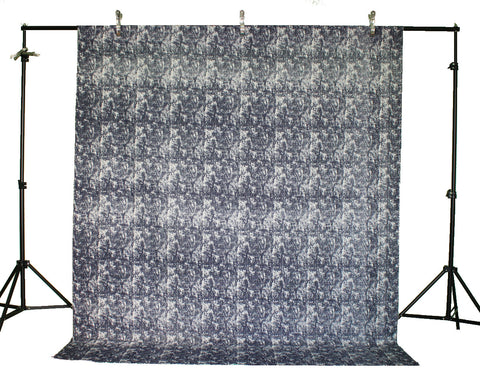 LIFE MAGIC BOX Linen Cotton Material Washable Wrinkle-free Dark Blue Cool Backgrounds Photo Backdrop