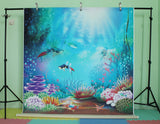 LIFE MAGIC BOX Vinyl Under Sea Backdrop fish wallpaper Cute Background Studio Backdrop Photography