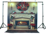 LIFE MAGIC BOX Vinyl Christmas Backdrops Fireplace Christmas Photo Booth Background for Photography