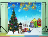 LIFE MAGIC BOX Vinyl Snowing Backdrop Snow Background Snow Man Backgrounds for Photo Studio