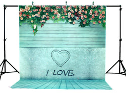 LIFE MAGIC BOX Vinyl Flower Wood Love Valentine's Day Backdrops Flowers Background Collapsible