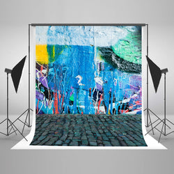 LIFE MAGIC BOX Seamless Wrinkle-free Polyester Washable Graffiti Brick Wall Cool Backgrounds