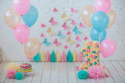LIFE MAGIC BOX 1st Birthday Backdrop Sesame Street Birthday Flower Background Fond Photo Rideau