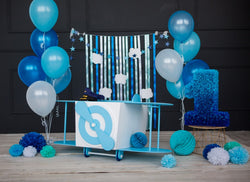 LIFE MAGIC BOX Baby Photography Backdrops Blue Boy First Birthday backgrounds Parties Decoration