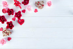 Background White Wood Floral Backdrop Red Rose Underwear Cake Product Accessories Photography