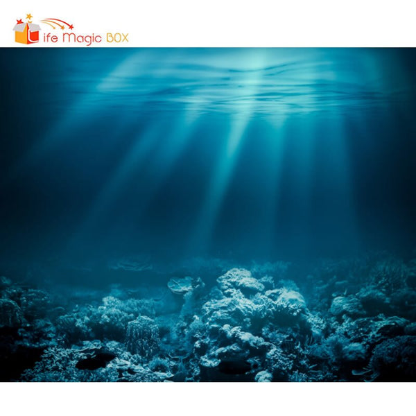 Photographic Background Sea Bottom Coral Reef Wedding Photo Call Fall Backdrop