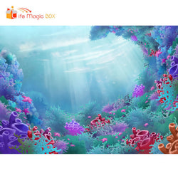 Photographic Background Sea Bottom Thanksgiving Backdrop Party Children Birthday Photobooth