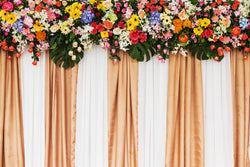 LIFE MAGIC BOX Purple Flowers Backdrop Wedding Backgrounds for Photographer Accessories