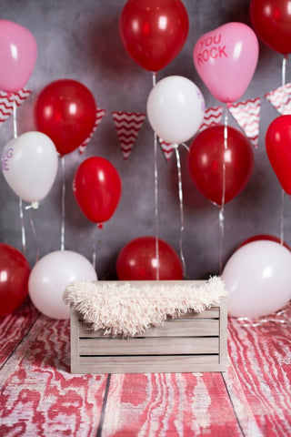 LIFE MAGIC BOX Red Balloon Fond Photo Newborn Studio Background Construction Party
