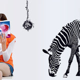 2pcs/set Zebra Removable Wall Stickers Floor Stickers Third Generation for Living Room Tv Background