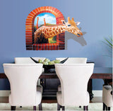 2Pcs/Set 3D Deer Matte Personality Fashion Creative Wall Stickers Floor Stickers Waterproof Pvc