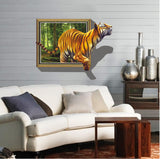 2Pcs/Set Tiger Large 3D Effect Wall Stickers Removable Floor Wall Stickers