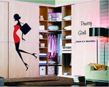 2Pcs/Set High Heels Beauty Third Generation Removable Wall Stickers Pvc Waterproof