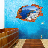 2Pcs/Set Castle Sea Landscape Floor Stickers Wall Stickers