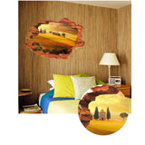 2Pcs/Set  Trees In The Desert Pvc Waterproof Floor Stickers Wall Stickers Removable
