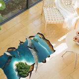 2Pcs/Set Pterosaurs 3D Animals World Wall Stickers Floor Sticker Kindergarten Environment Decoration