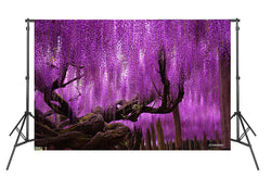 LIFE MAGIC BOX Vinyl Wedding Photography Photo Background Custom Photo Backdrops Purple Flower Tree